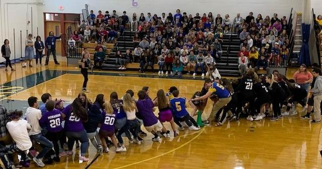 Pep Rally Class Tug-of-War